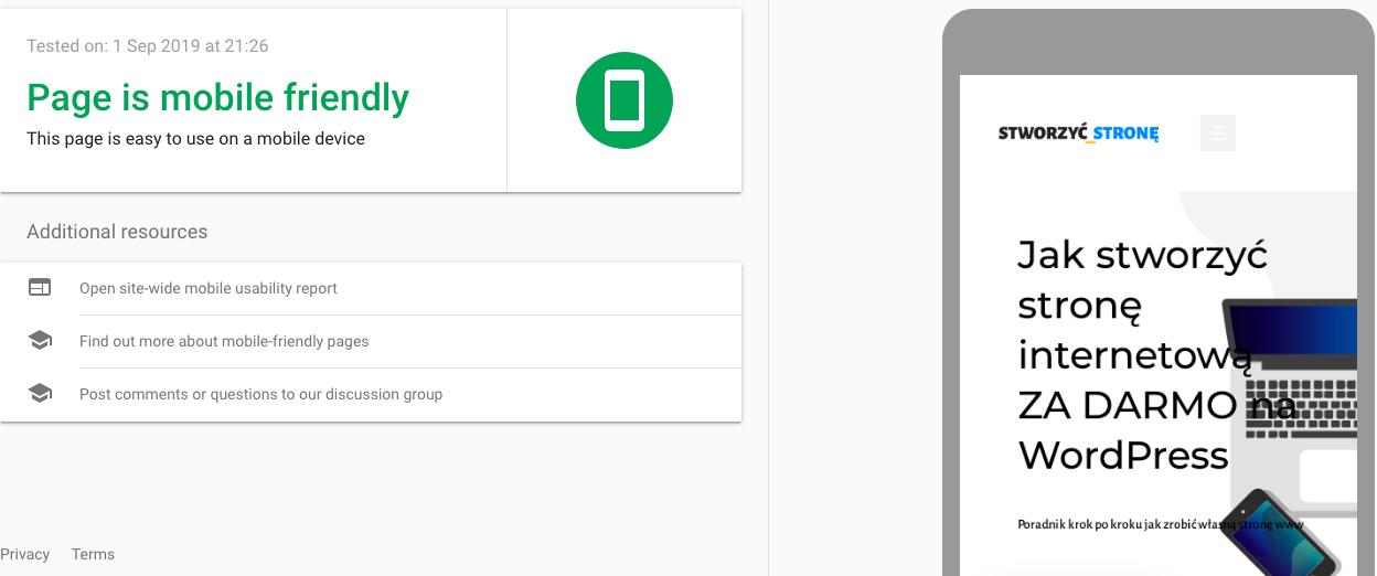 test optymalizacji mobilnej