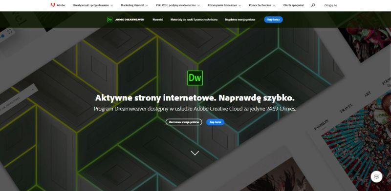 program do tworzenia stron internetowych adobe drewamweaver